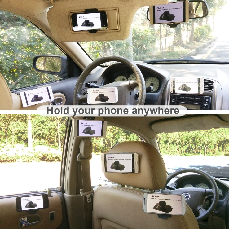 wahah phone holder could be used anywhere in the car.