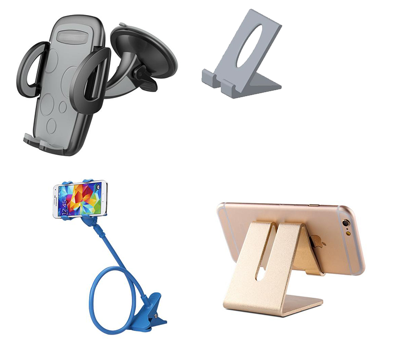 different shapes and styles of phone holder mounts