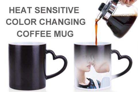 Heat sensitive coffee cup